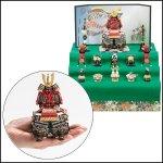 画像3: 送料無料!五月人形鎧大赤新三段飾り (3)