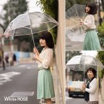 画像2: ホワイトローズビニール長傘「縁結」(えんゆう) (2)