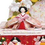 画像2: ひな人形「おひなさま/舞桜雛」 (2)