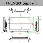 画像5: 24V型フロントスピーカー地デジ/BS/110度CSデジタルハイビジョン液晶テレビ[FT-C2460B] (5)