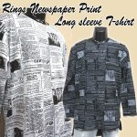 画像1: RINGS NEWSPAPERロングTシャツ (1)