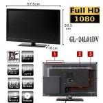 画像7: GrandLine24V型DVDプレーヤー内蔵フルハイビジョンLED液晶テレビ[GL-24L01DV] (7)