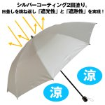 画像4: UV99%遮光&遮熱シルバーニつ折り傘(チドリ柄) (4)