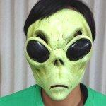 画像2: ハロウィン・フェイスマスクメキシコ製「エイリアン」 (2)