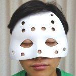 画像2: ハロウィン・ハーフマスク「ジェイソンマスク2」2個セット (2)