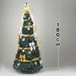 画像4: クリスマスツリー「折り畳みデコレーションツリー180cm/エレガント」 (4)