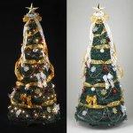 画像3: クリスマスツリー「折り畳みデコレーションツリー180cm/エレガント」 (3)
