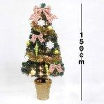画像2: クリスマスツリー「デコレーションファイバーツリー150cm」 (2)
