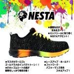 画像2: NESTA[ネスタ]デザインセーフティースニーカー(ゴールドラメxブラック) (2)