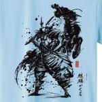 画像4: 大河ドラマ「麒麟がくる」(NHK公式)墨絵師御歌頭「明智光秀」Tシャツ (4)