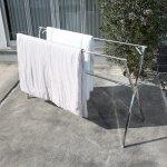 画像5: 布団も干せる伸縮式コンパクト物干し台 (5)
