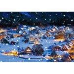 画像2: ジグソー日本の風景「雪降る白川郷」フレームセット(1000P) (2)