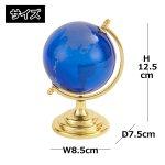 画像7: インテリアガラス地球儀ブルー (7)