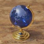 画像2: インテリアガラス地球儀ブルー (2)