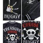 画像2: 送料無料ワンピース「バギー海賊団海賊旗スカジャン」(メンズ,レーヨン,ジャケット,スイッチプランニング,コラボ,刺繍) (2)