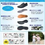 画像2: 送料無料スマートウォークメンズ「快歩主義/M030AC」 (シニア向け,ファスナー付き,疲れない靴,脱ぎ履き簡単,日本製) (2)