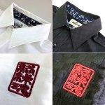画像6: 絡繰魂「鳳凰刺繍ブロック柄コットンシャツ」(メンズ,長袖,ロングシャツ,和柄,抜き染プリント,綿,刺繍&プリント,からくりだましい) (6)