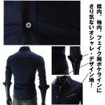 画像4: ボタンダウンロールアップロングスリーブシャツ(メンズ,長袖,カジュアルシャツ,ファッション,コーディネート,ロールアップ袖) (4)