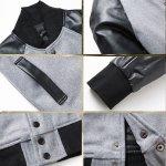 画像3: PUスリーブ・モノトーンスタジャンHD(メンズ/ジャケット/袖切り替え/スタジアムジャンパー/モノトーン) (3)