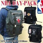 画像1: NBAデイパック(リュックサック,バックパック,スクエアリュック,ナイロン,カバン,NBAオフィシャル,ブルズ,レイカーズ,ネッツ,チームロゴ) (1)