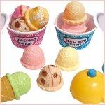 画像2: よくばりフレーバーアイスクリーム屋さん (おままごとセット,三歳以上,女の子,アイスクリーム屋さんごっご,子供,幼児,コーン.カップ) (2)