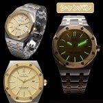画像3: 送料無料TECHNOS「テクノス」グランドポート・オクタゴン (腕時計,八角形,スイス,蓄光,インデックス,日本製クォーツ) (3)
