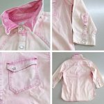 画像2: ハイブリーチウエスタンシャツ【ピンク】 (2)