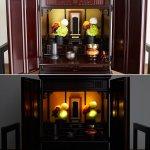 画像3: アートフラワーアレンジ 光る仏花[リモコン付き](1点) (フラワーアレンジメント,仏壇,ライティング,LED,造花,光,リモコン) (3)