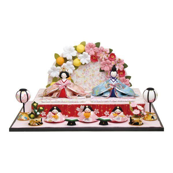 画像1: ひな人形「おひなさま/舞桜雛」 (1)
