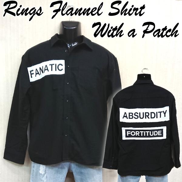 画像1: RINGSワッペン付ネルシャツ (1)