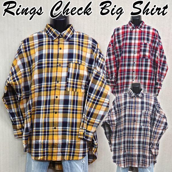 画像1: RINGSチェックBIGシャツ (1)