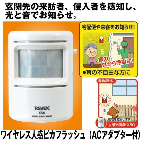画像1: ワイヤレス人感ピカフラッシュ(ACアダプター付) (1)