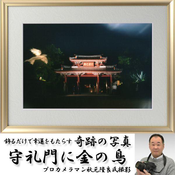 画像1: 幸運をもたらす奇跡の写真「守礼門に金の鳥」 (1)