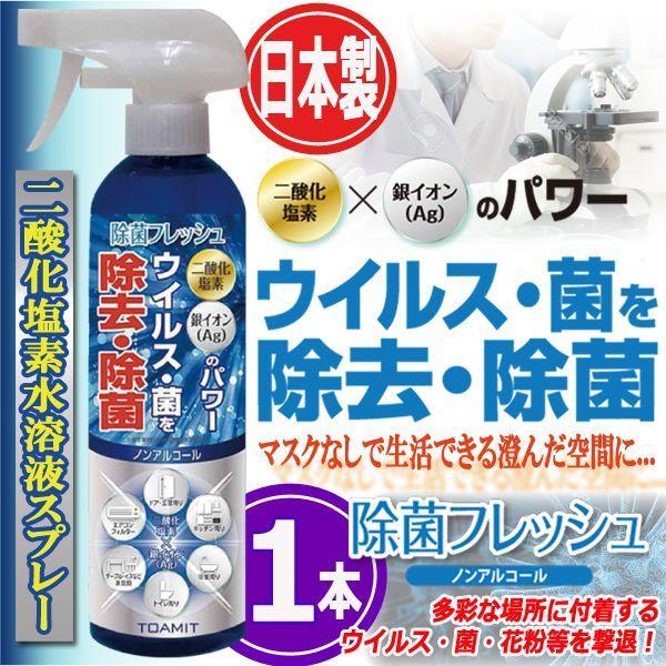 画像1: 日本製二酸化塩素水溶液スプレー「除菌フレッシュAg」350ml(1本) (1)