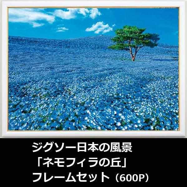 画像1: ジグソー日本の風景「ネモフィラの丘」フレームセット(600P) (1)